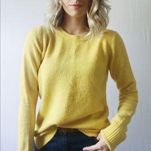 Yellow Tall Soft Crewneck Sweater